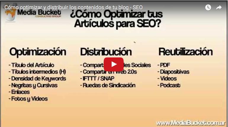 Cómo optimizar y distribuir los contenidos de tu blog