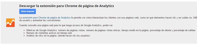 page analytics instalar