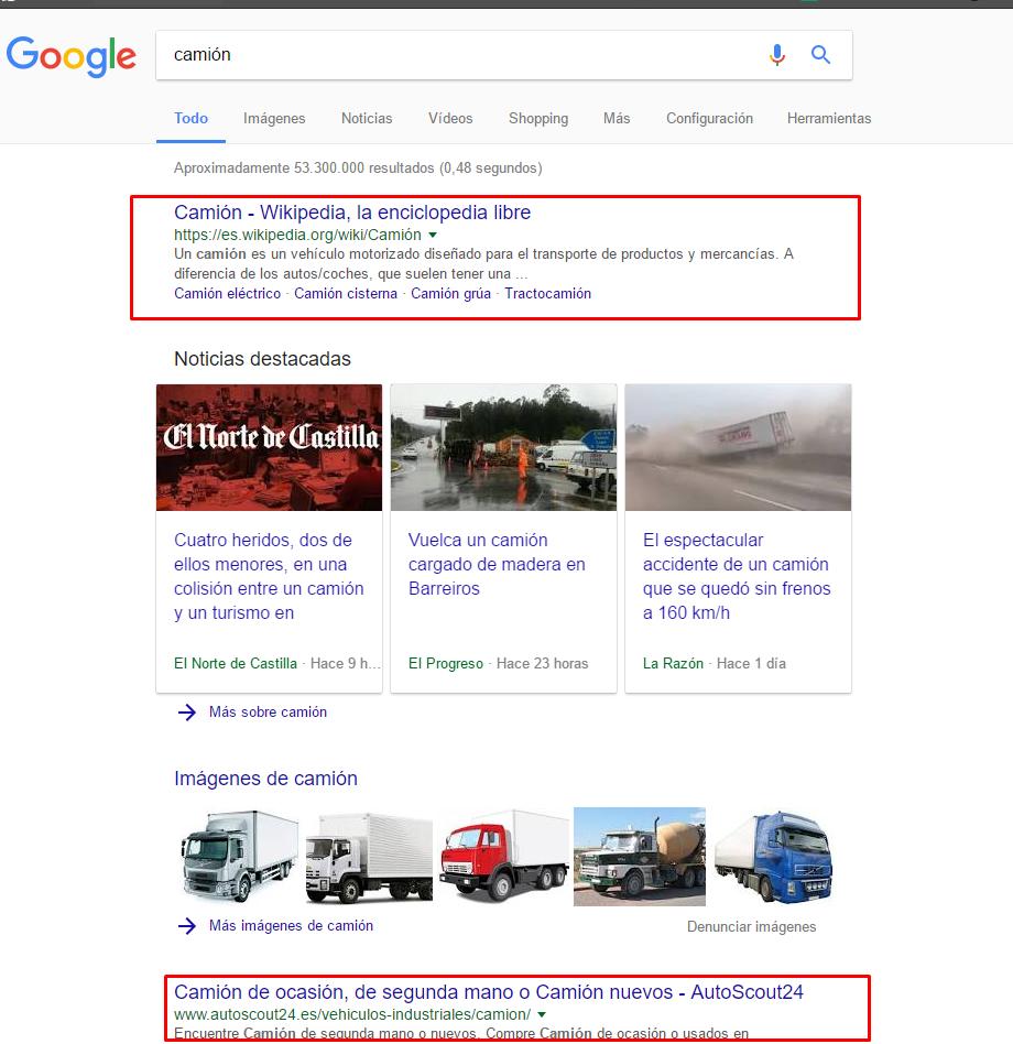 con tilde en google.com