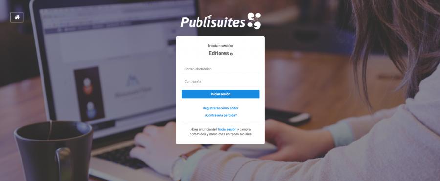 Registro editor Publisuites