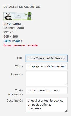 Atributos para optimizar imagenes en wordpress