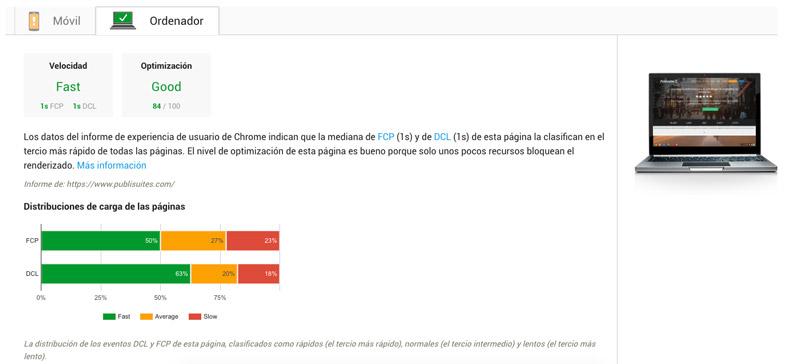 Velocidad de carga página SEO On page