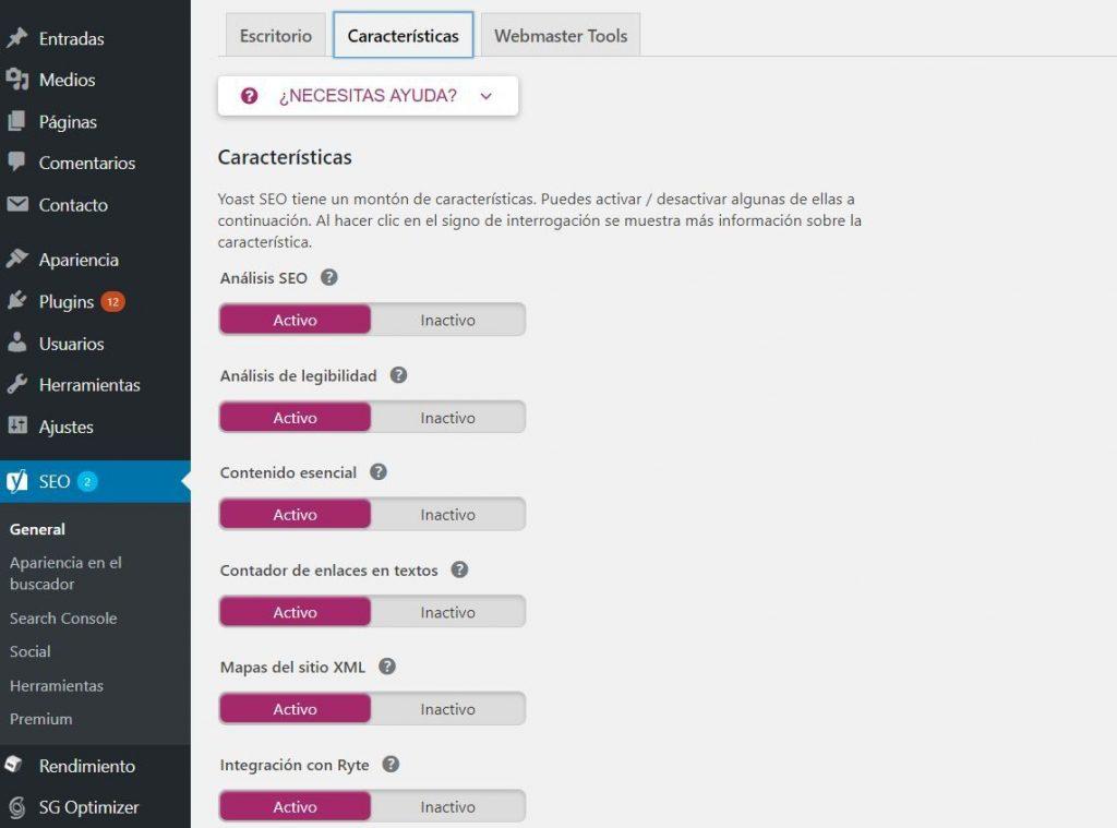 activar sitemap yoast wordpress