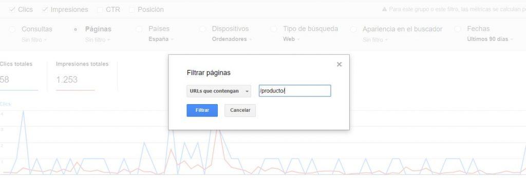 filtros para las búsquedas