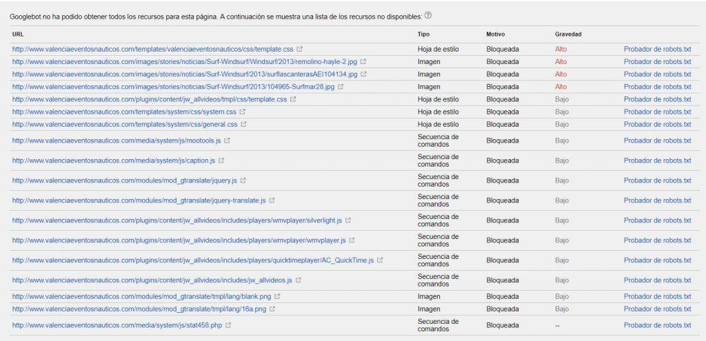 Explorar como Google recursos bloqueados