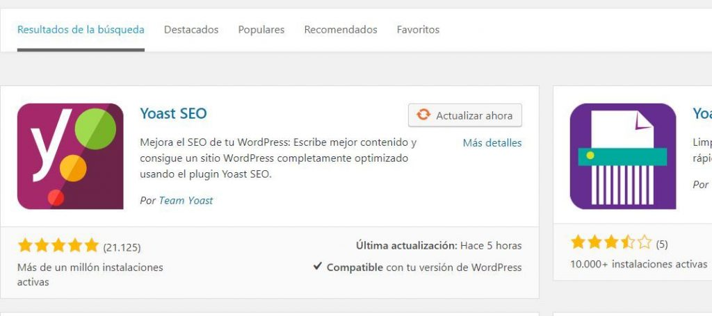 instalacion yoast wordpress
