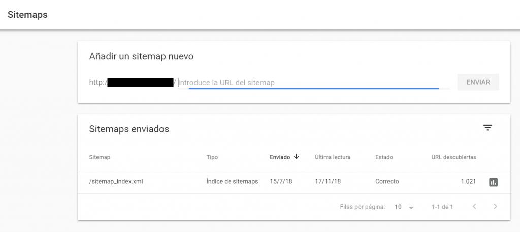 enviar sitemap google search console
