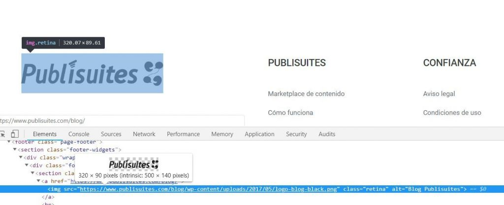 publisuites footer redimension