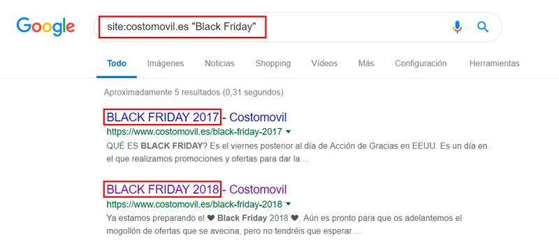 ejemplo canibalización black friday