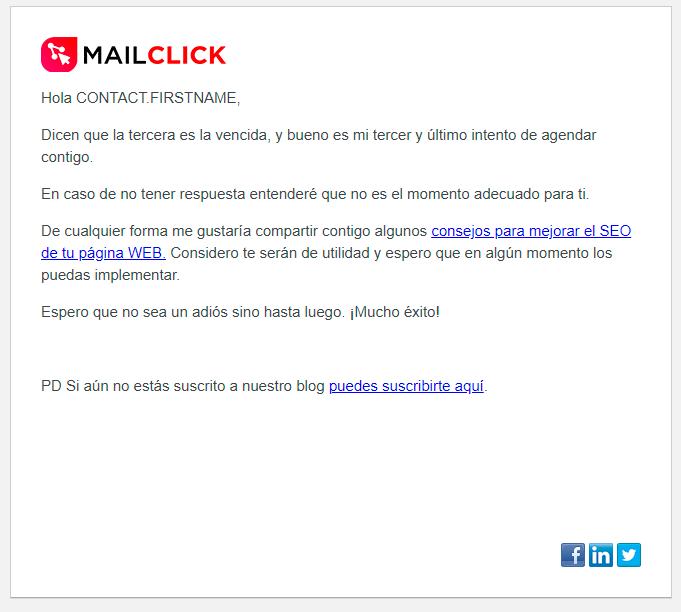 email automatizado