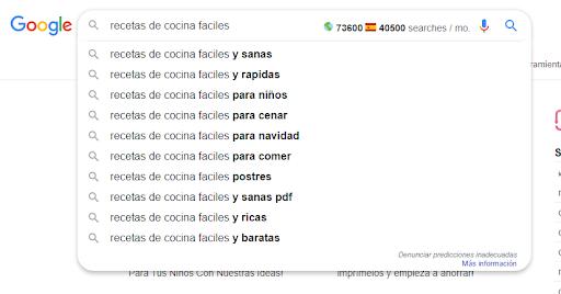 encontrar nicho en google