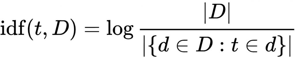 calcular idf