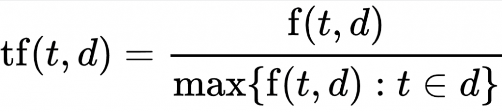 calcular tf