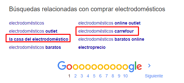 google suggest marca