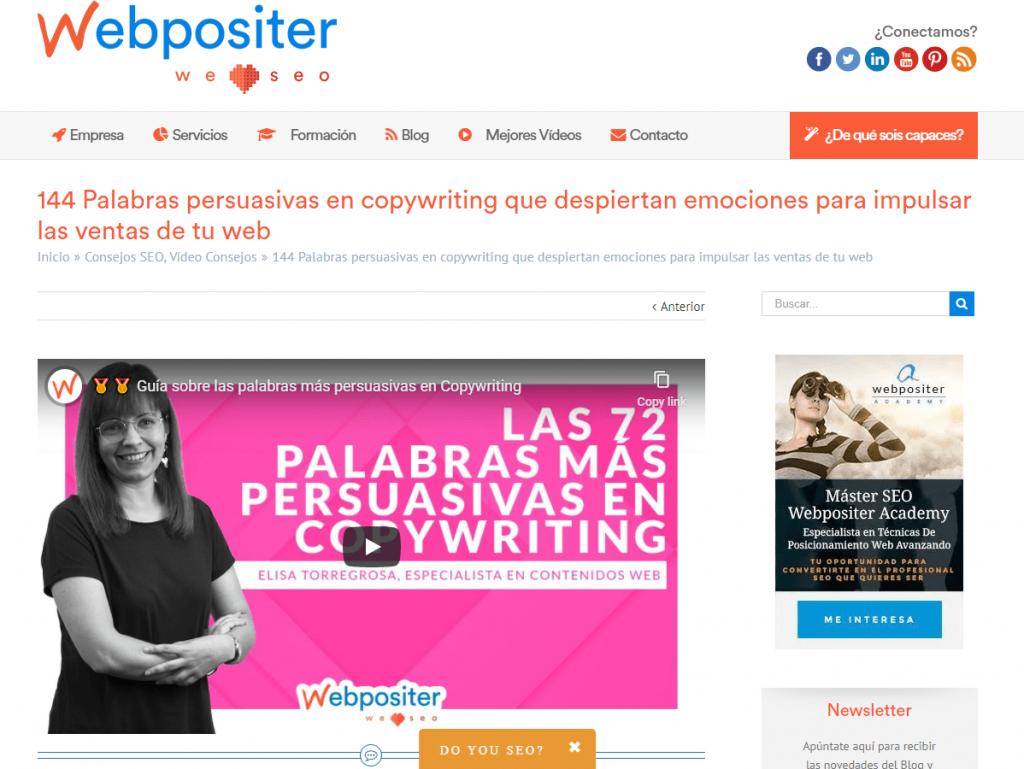 webpositer posicionamiento marca