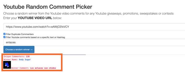 premio comentario youtube