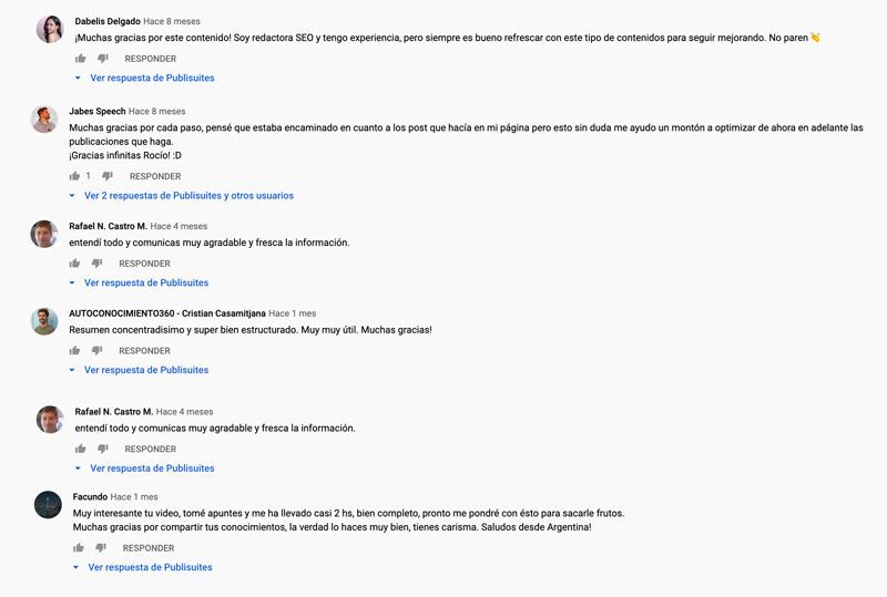opiniones videos publisuites